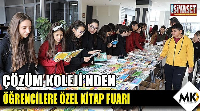 Çözüm Koleji'nden öğrencilere özel kitap fuarı