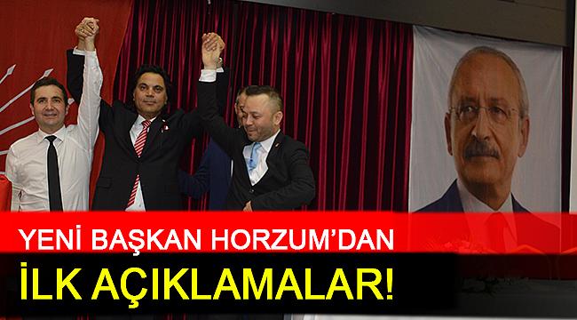 YENİ BAŞKAN HORZUM'DAN İLK AÇIKLAMALAR!