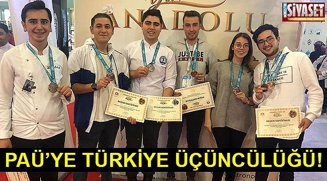 PAÜ'ye Türkiye üçüncülüğü!