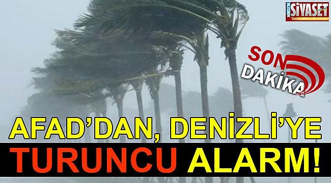 AFAD'dan, Denizli'ye turuncu alarm!