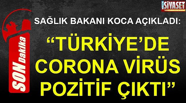 Türkiye'de ilk vaka tespit edildi