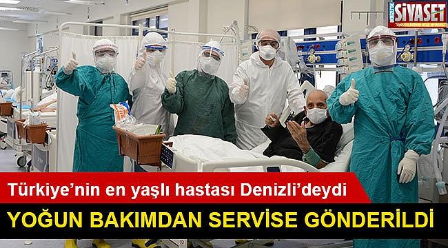 Türkiye'nin en yaşlı hastası Denizli'deydi