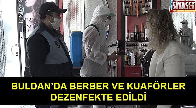 Berber ve kuaför salonları dezenfekte edildi