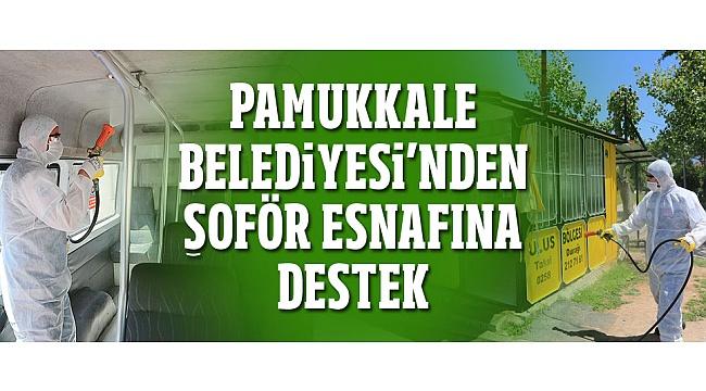 Pamukkale Belediyesi'nden şoför esnafına destek