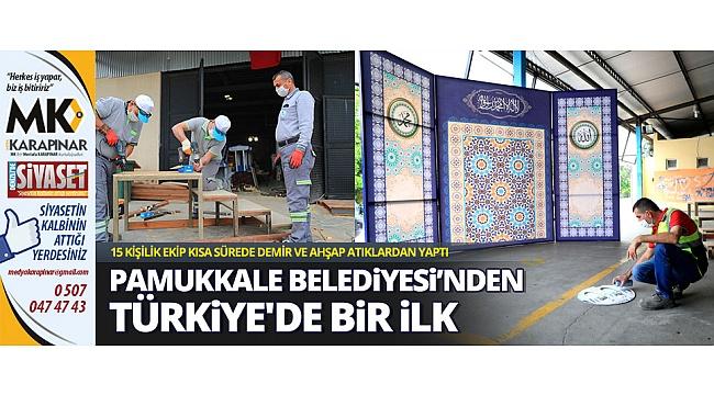 Pamukkale Belediyesi'nden Türkiye'de bir ilk