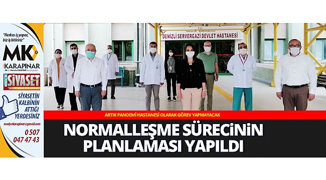 Sağlık hizmetlerinde normalleşme sürecinin planlaması yapılıyor
