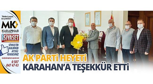 AK Parti heyeti Karahan'a teşekkür etti