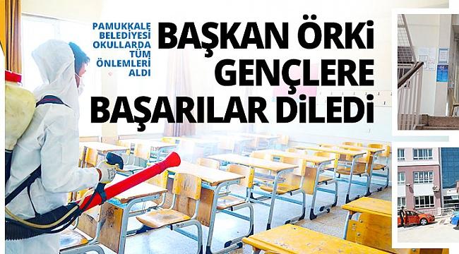 Başkan Örki gençlere başarılar diledi