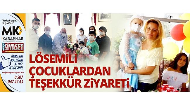 Lösemili çocuklardan Başkan Şevik'e teşekkür ziyareti