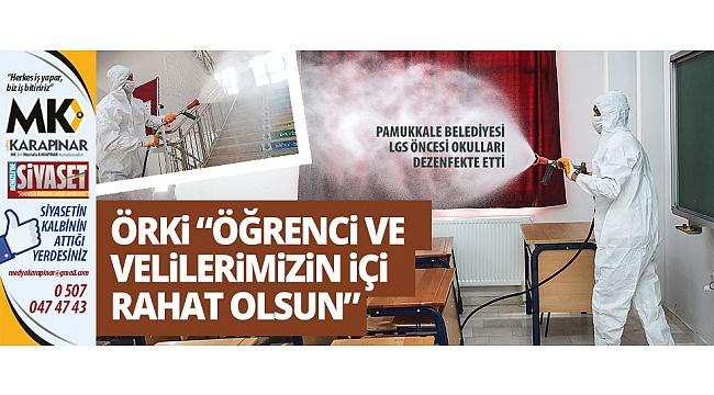 Pamukkale Belediyesi LGS öncesi okulları dezenfekte etti