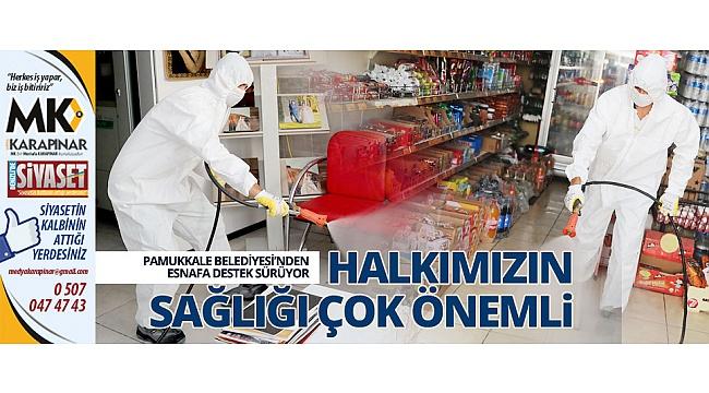 Pamukkale Belediyesi'nden esnafa destek sürüyor