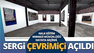 Sarayköy'de çevrimiçi sergi açıldı