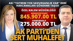 AK Parti'den sert muhalefet