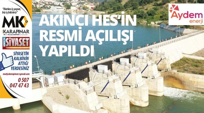 Aydem Enerji'nin hidroelektrik santralinin resmi açılışı yapıldı
