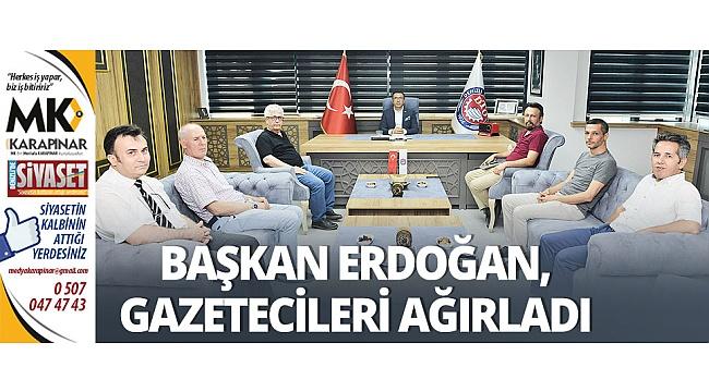 Başkan Erdoğan, gazetecileri ağırladı