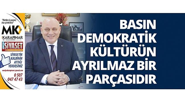 Başkan Şevik'ten 24 Temmuz Basın Bayramı Mesajı