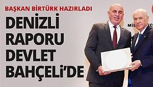 Birtürk, Denizli raporunu Bahçeli'ye verdi