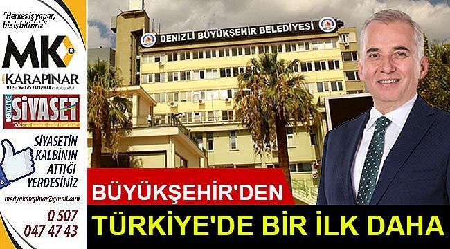 Büyükşehir'den Türkiye'de bir ilk daha