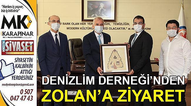 Denizlim Derneği'nden Başkan Zolan'a ziyaret