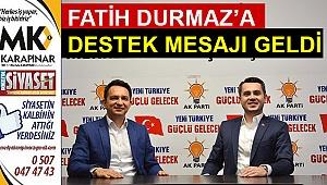 Fatih Durmaz'a destek mesajı geldi