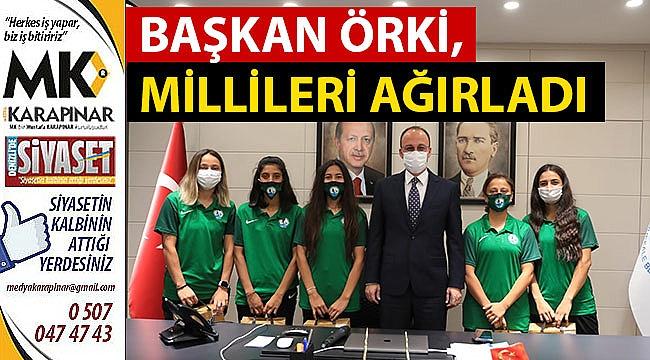Başkan Örki Millileri Ağırladı