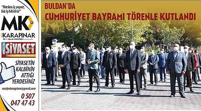Buldan'da Cumhuriyet Bayramı törenle kutlandı