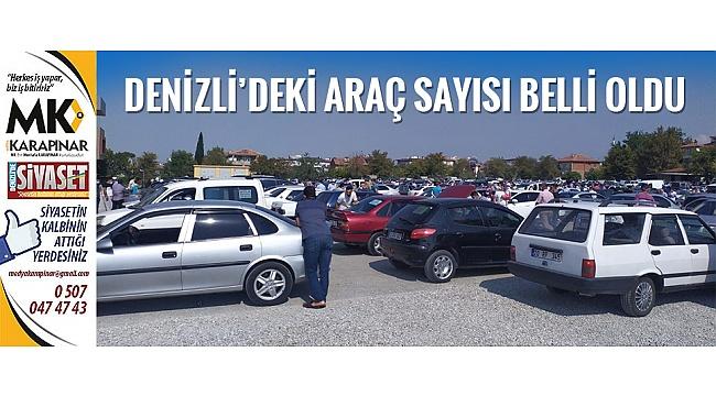Denizli'de toplam araç sayısı belli oldu