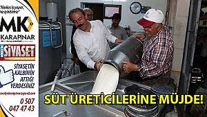 Süt üreticilerine müjde!