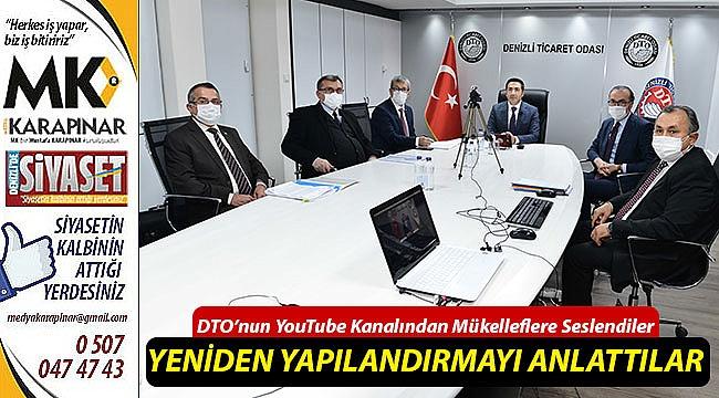 DTO'nun YouTube Kanalından Mükelleflere Seslendiler