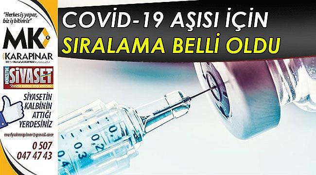 Covid-19 aşısı için sıralama belli oldu