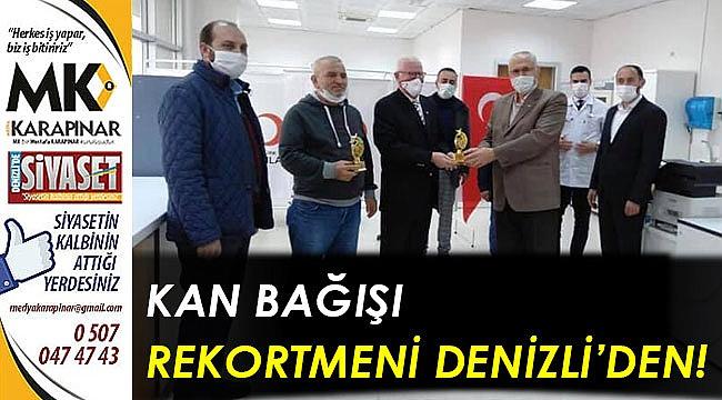 Kan bağışı rekortmeni Denizli'den!