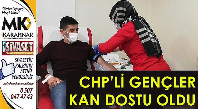 CHP'li gençler kan dostu oldu