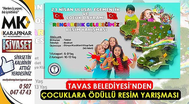 Tavas Belediyesi'nden çocuklara ödüllü resim yarışması