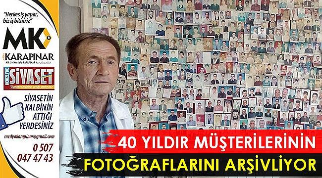40 yıldır müşterilerinin fotoğraflarını arşivliyor