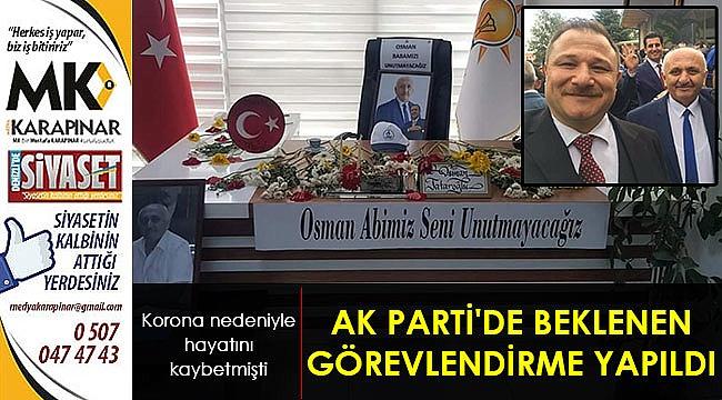 AK Parti'de beklenen görevlendirme yapıldı