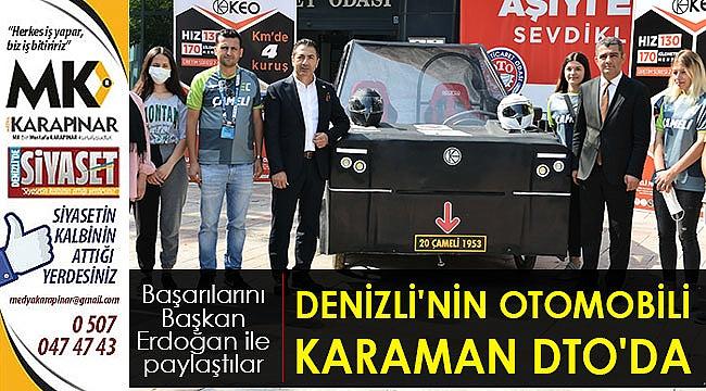 Denizli'nin Elektrikli Otomobili Karaman, Evine Döndü