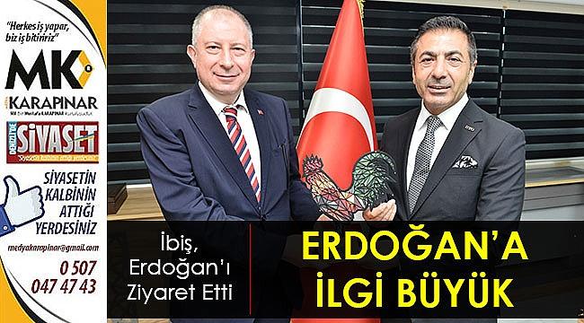 Erdoğan'a ilgi büyük