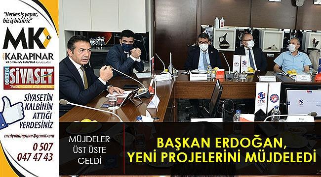 Başkan Erdoğan, yeni projelerini müjdeledi