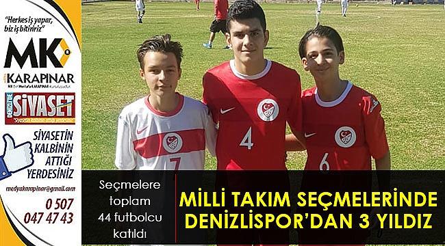 Denizlispor, milli takım seçmelerine 3 futbolcu gönderdi