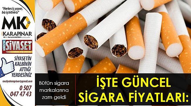 İşte güncel sigara fiyatları